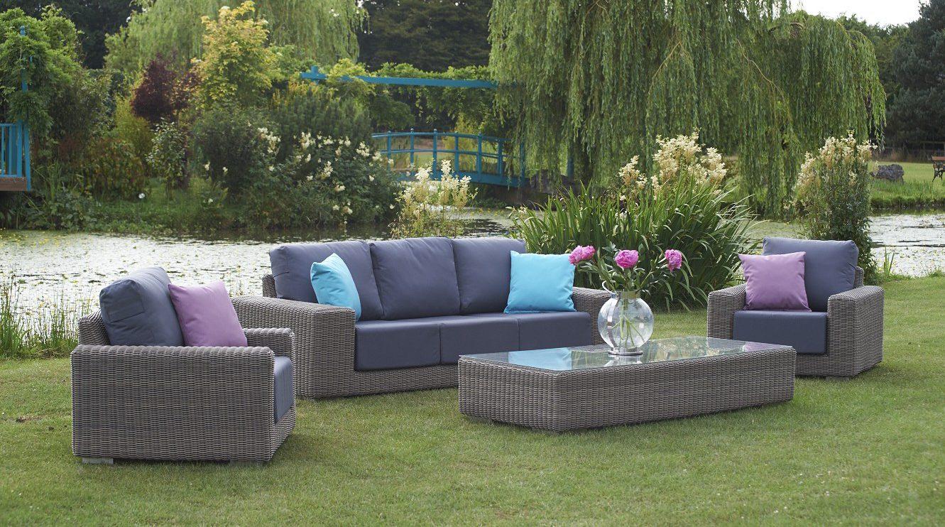 luxury rattan garden sofas - KINGSTON