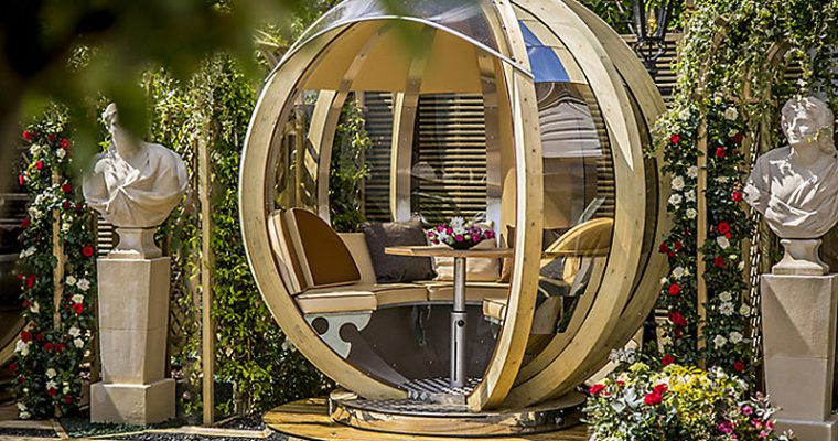 Rotating Garden Pods, Spheres & Garden Rooms