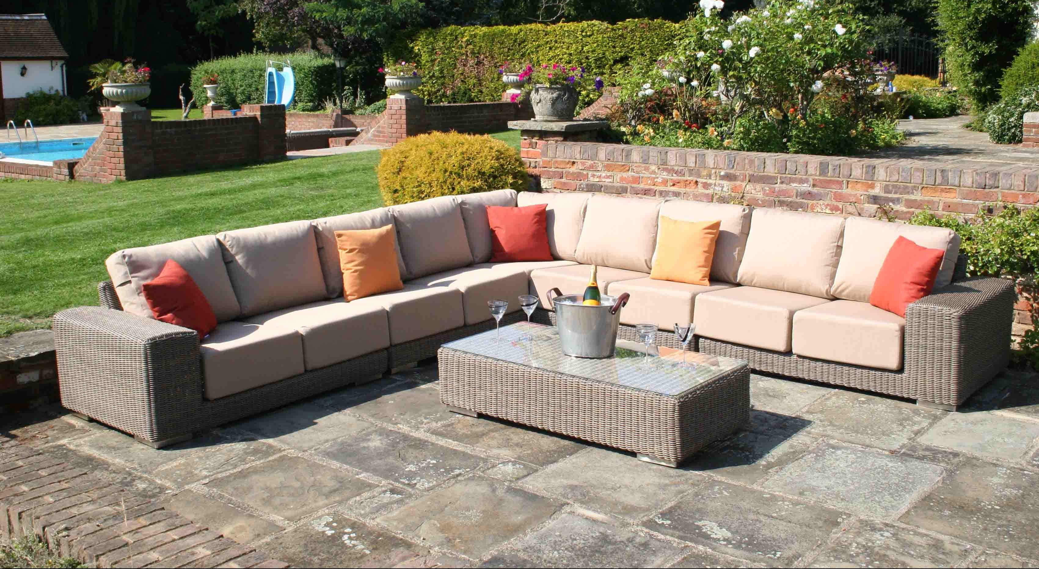 luxury rattan garden sofas - KINGSTON MODUALAR