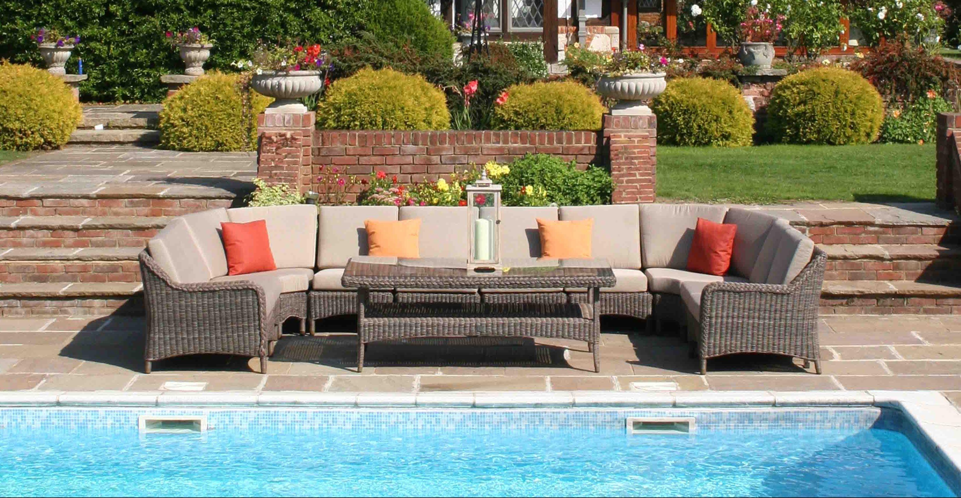 luxury rattan garden sofas - MARLOW